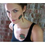 Reptile Skin Makeup Tattoo